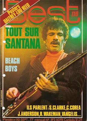 Carlos Santana en couverture de Best en 1977