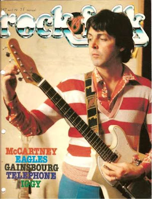 Paul Mc Cartney en couverture de Rock & Folk en 1979