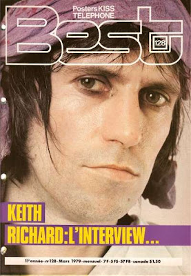 Keith Richard en couverture de Best en 1979