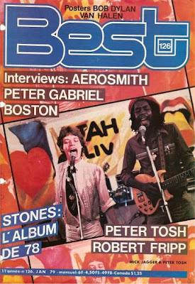 Mick Jagger et Peter Tosh en couverture de Best en 1979