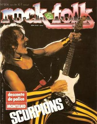 Scorpions en couverture de Rock & Folk en 1984