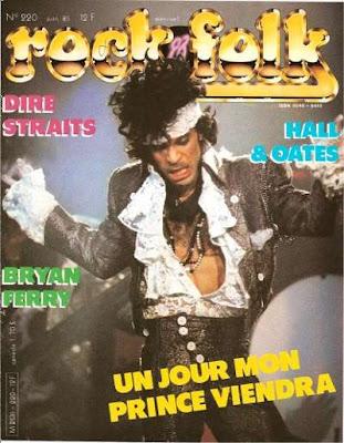 Prince en couverture de Rock & Folk en 1985