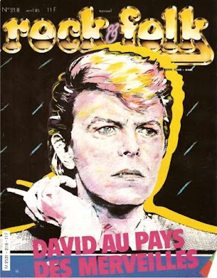 David Bowie en couverture de Rock & Folk en 1985