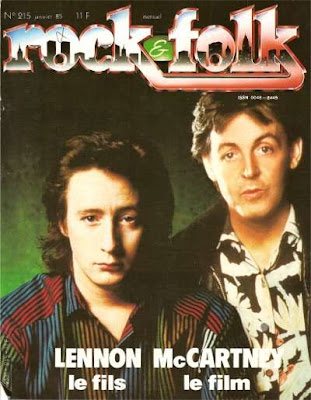Sean Lennon et Paul Mc Cartney en couverture de Rock & Folk en 1985
