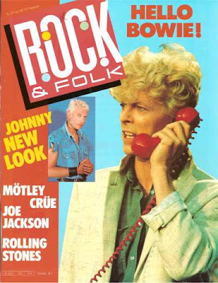 David Bowie en couverture de Rock & Folk en 1986