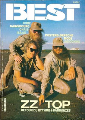 ZZ top en couverture de Best en 1985