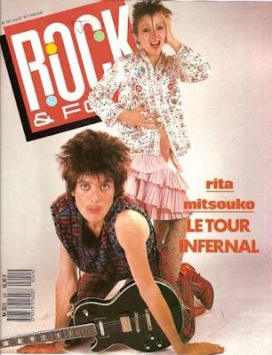 Rita Mitsouko en couverture de Rock & Folk en 1987