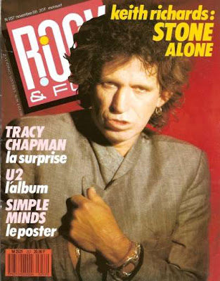 Keith Richards en couverture de Rock & Folk en 1988