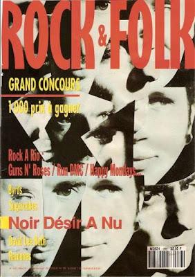 Noir Désir en couverture de Rock & Folk en 1991