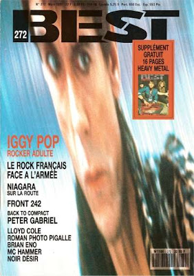 Iggy Pop en couverture de Best en 1991