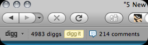 Digg toolbar