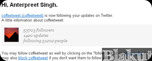 Twitter Email notification