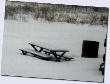 Snowbound Picnic Table
