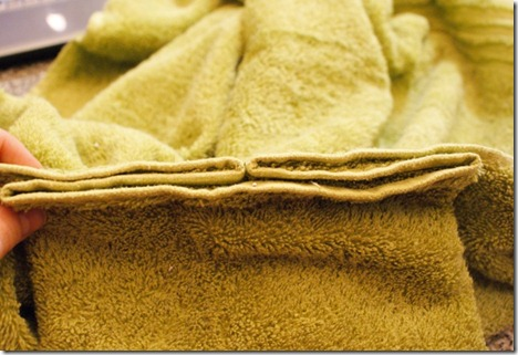 towel pleats