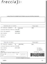 Bollettino bancario freccia for Bollettino precompilato