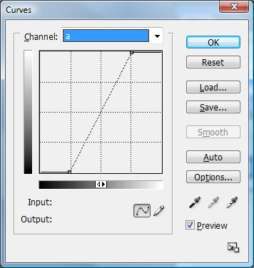 Photoshop Curves Dialog for Lab Color