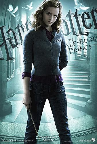 Harry Potter and the Half Blood Prince character poster featuring Hermione Granger