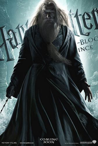 Harry Potter and the Half Blood Prince character poster featuring Albus Dumbledore