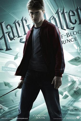 Harry Potter and the Half Blood Prince character poster featuring Harry Potter