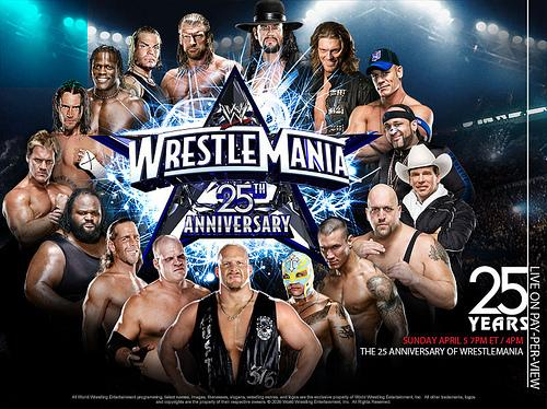 wrestlemania 25 wallpaper. Wrestlemania 25 (XXV) Official