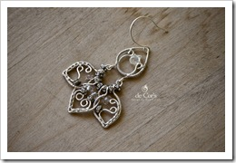 Handmade Wire Jewelry: Silver Lotus Earrings For wedding