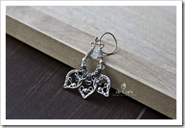 Handmade Wire Jewelry: Silver Lotus Earrings for Wedding V2, Prototype