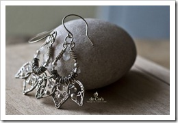 Handmade Wire Jewelry Silver Lotus Earrings for wedding