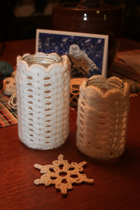 Christmas Candlestick Crochet Votive Tutorial Make