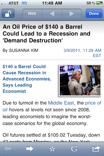 Oil and recessions