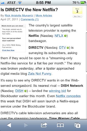 Netflix vs directv