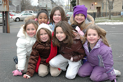 Saint Joseph students at recess