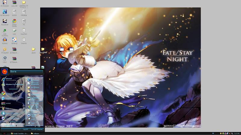 Saber Fate/stay night XP Theme screenshot