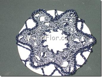 Crochet: Canastilla Bicolor de hilo para las niñas