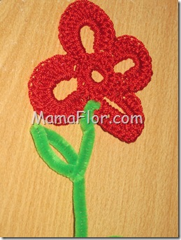 Flores: Flor tejido a Crochet…