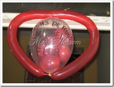 Arreglo de Globos  Decorados para el día del Amor