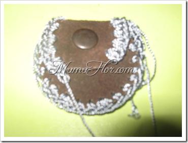 Monedero de Cuero tejido a Crochet…