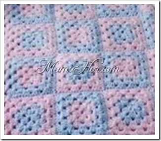 Pastilla Cuadrada a Crochet…