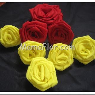 Como hacer Rosas de Telas súper fáciles!