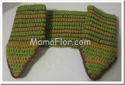 Como Convertir una Vincha en unas Orejeras tejidas a Crochet