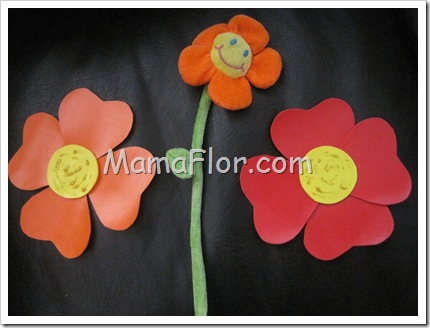 Como hacer flores con corospun