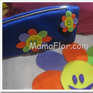 Cartuchera de Colores usando Paño Lency
