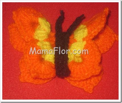 Mariposa Tejida a Crochet