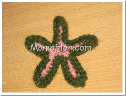 Como Tejer una Flor a Crochet para el Cabello