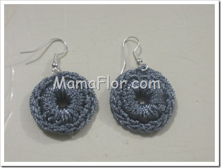 Aretes de Argollitas Tejidas a Crochet