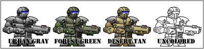 Infantry Color Comparison
