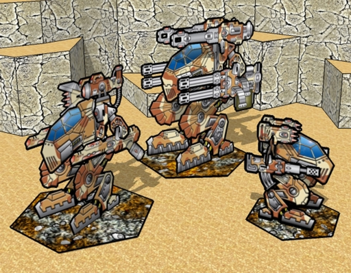 Desert Mech Trio