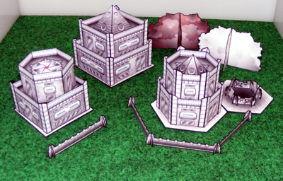 Armor Grid Buildings, Low Walls, Smoke Markers