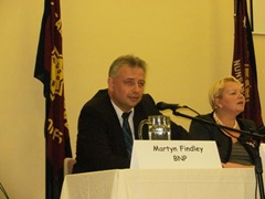 Hustings debate GE 2010 answering a question