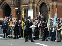 Standard bearers prepare for Queens Gurkha Signals