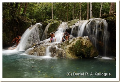 Bathers at Hagimit Falls, Samal Island